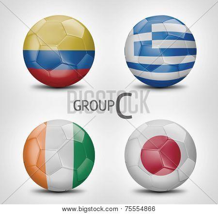 Group C - Colombia, Greece, Ivory Coast, Japan (Brazil)