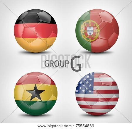 Group G - Germany, Portugal, Ghana, USA (Brazil)