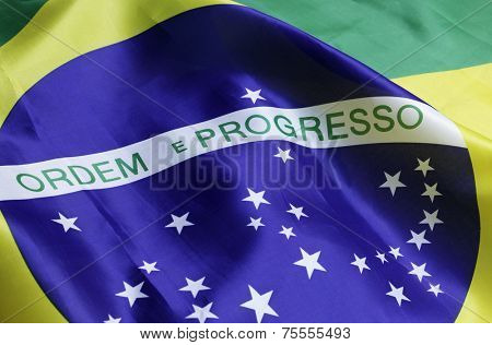 Close-up of brazilian flag