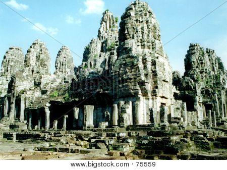Bayon Complex In Cambodia