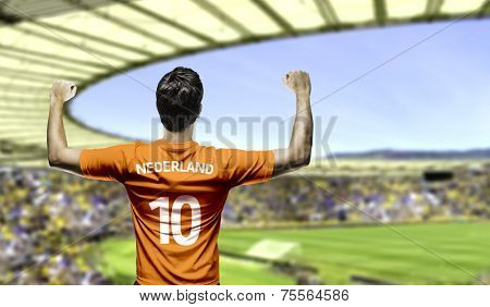 Dutchman fan celebrates on the stadium