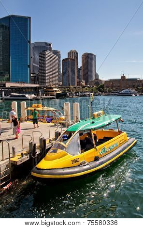 Water taxi on Sydney Harbour