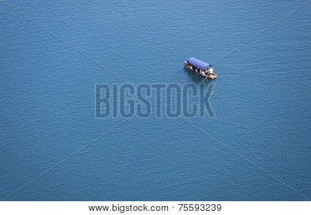 Boat Or Yacht On The Lake