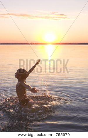 Boy On Th Beach