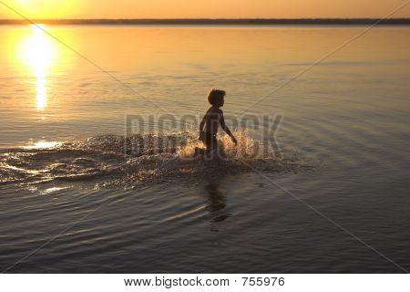 Summer Sunsen On The Sea