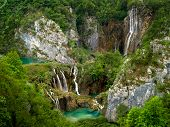 Plitvice Lakes National Park in Croatia. It is on the UNESCO World Heritage list poster