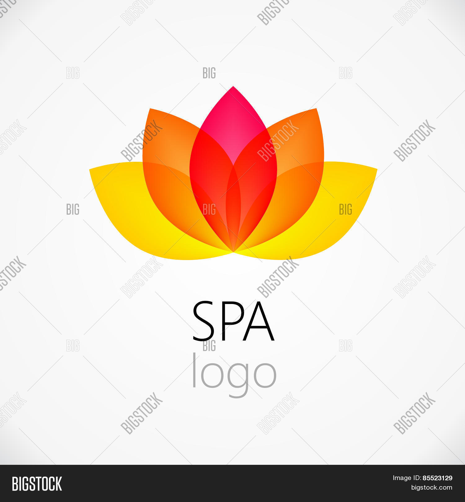 Lotus flower abstract vector photo free trial bigstock lotus flower abstract vector logo design template mightylinksfo