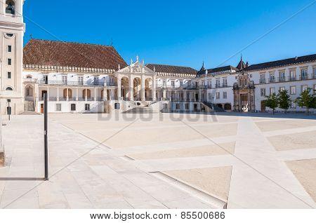 Main Square Of Coimbra University