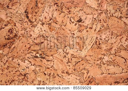 Cork panel texture background