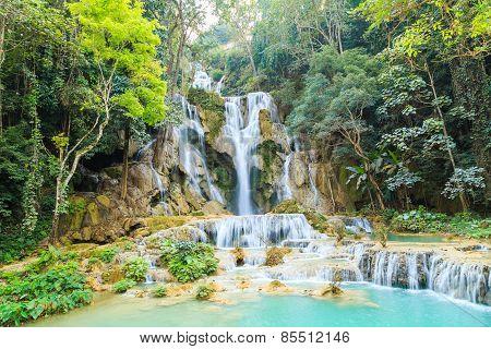 Tat Kuang Si Waterfalls In Laos