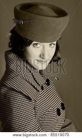 Retro-style Fashion Woman