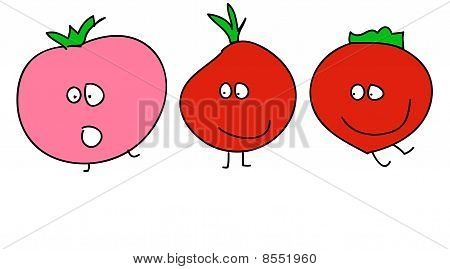 Funny animated tomatoes