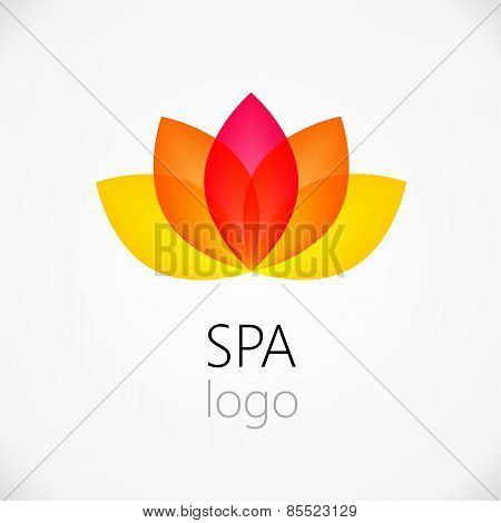 Lotus Flower Abstract Vector Logo Design Template