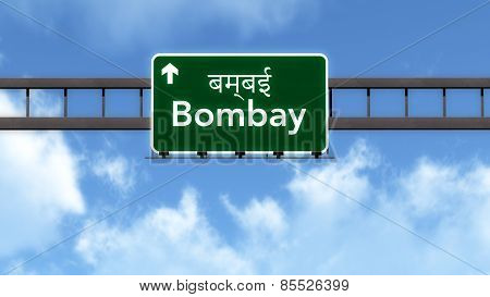 Bombay India Highway Road Sign