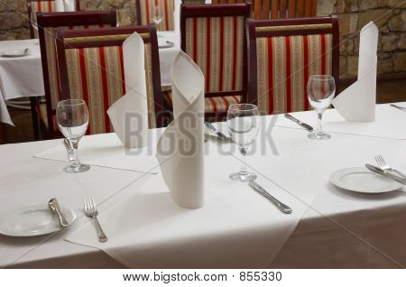 tabela de restaurante