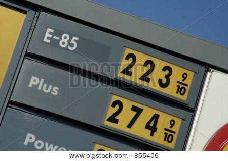 E-85 prices 2