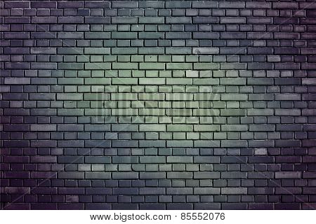 Blue Gray Weathered Brick Wall Background