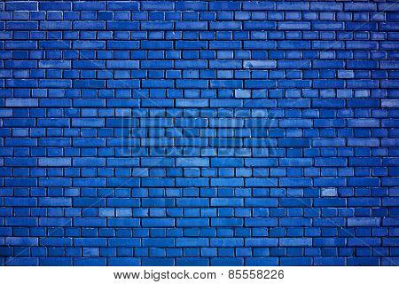 Dazzling Blue Brick Wall Background