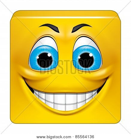 Square Emoticon Smiling