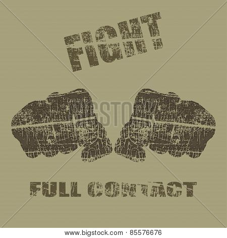Vector fists, fists vector illustration with text poster
