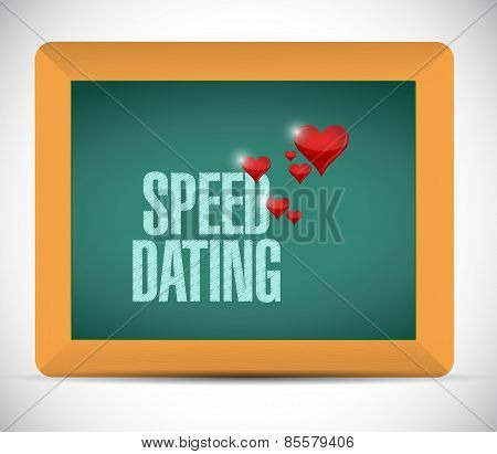Speed Dating Board Sign Concept Illustration