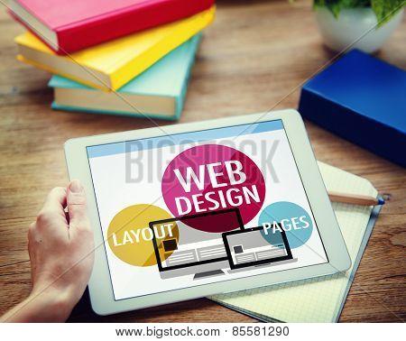 Web Design Content Creative Website Responsive Concept poster