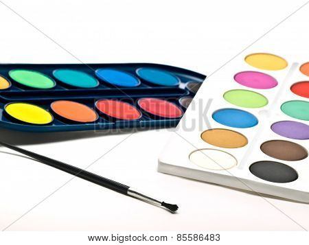Color Swatches And Brush