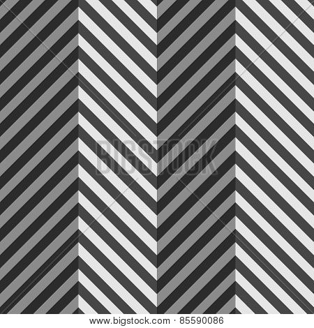 Geometrical Pattern With Gray And Black Zigzag Lines With Folds