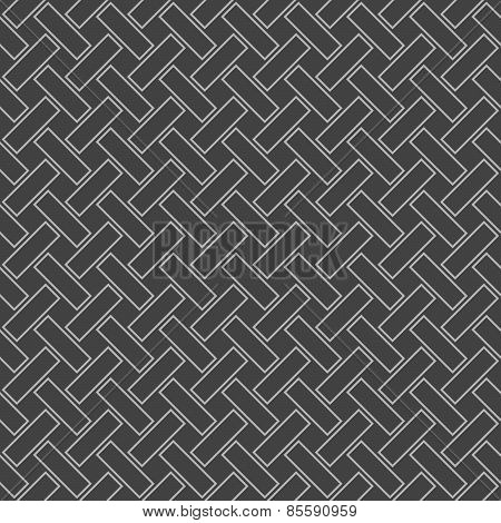 Monochrome Pattern With Gray  Rectangles With Rounders Corners In Diagonal Order