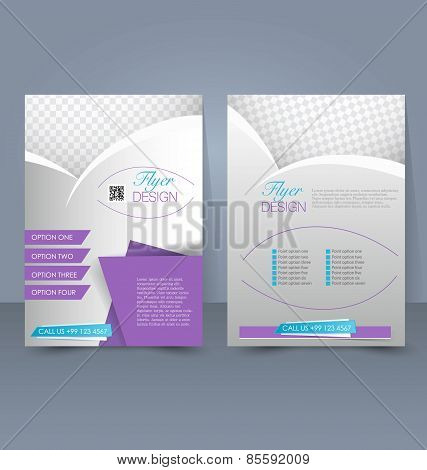 Template for brochure or flyer. Editable A4 poster.