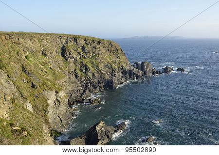Pitting Gales Point near Marloes Pembrokeshire Wales poster