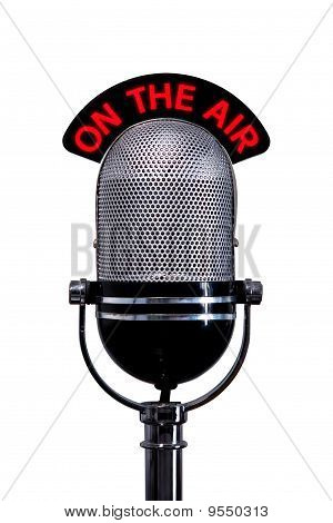 Retro Microphone With On The Air Sign Cut Out