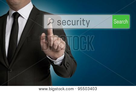Security Internet Browser Is Operated By Businessman