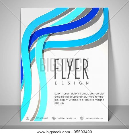 Colourful design for flyer with address bar and mailer.