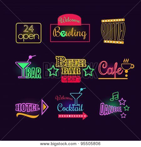 Colorful Glowing Neon Lights