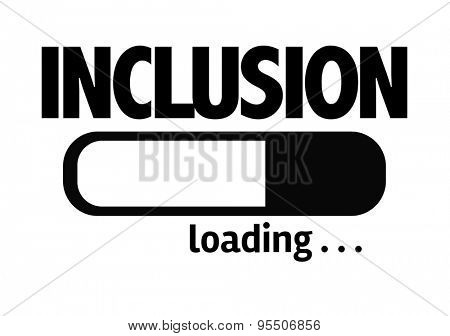 Progress Bar Loading with the text: Inclusion