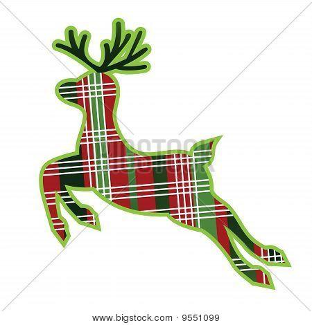 Christmas Plaid Reindeer