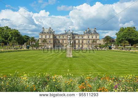 The Jardin Du Luxembourg, Or The Luxembourg Garden, Located In The 6Th Arrondissement Of Paris, Fran