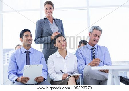 business team taking a note during a meeting in the office