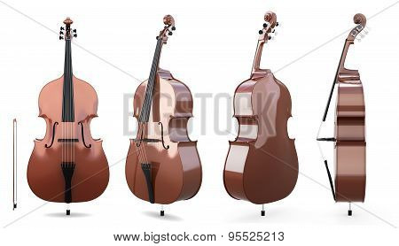 Set Of Double Bass
