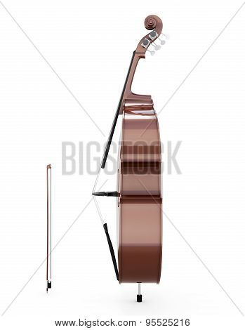 Contrabass Side View