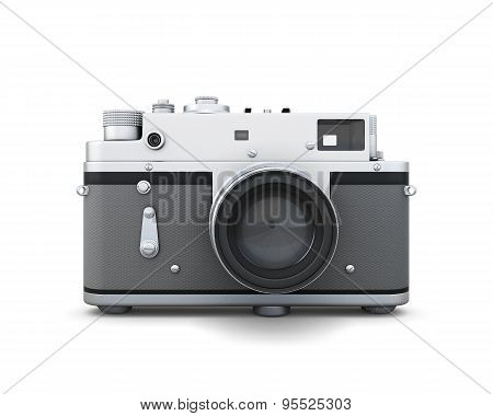 Old Photo Camera Front View