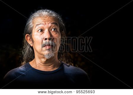 Old Man In Shock Action