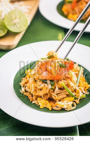 Pad Thai with Shrimps , Thai Food
