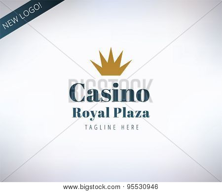 Casino vector logo icon. Poker, cards or game and money symbol. Stocks design element.