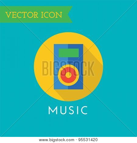 Player Icon Vector Icon. Sound, tools or Dj and note symbols. Stocks design element.