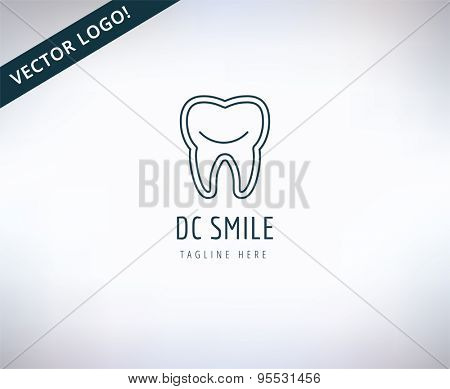 Tooth Icon Vector Icon. Health, Medical or Doctor and Dentist symbols. Stock design element.