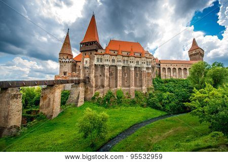Corvin castle in Romania
