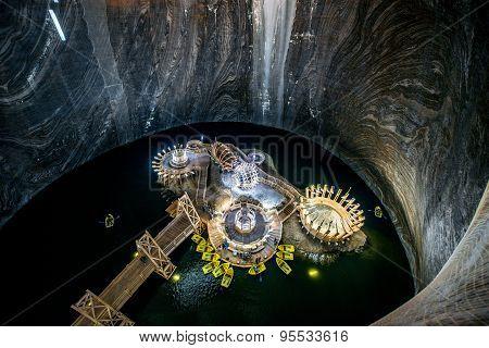 Salt Mine in Turda, Romania
