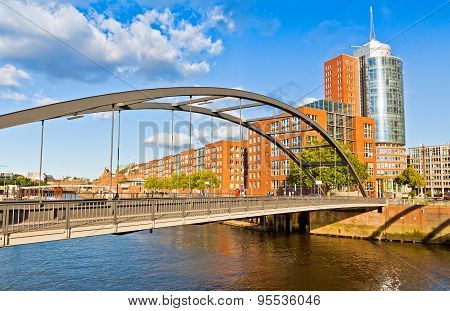 Speicherstadt disctrict in Hamburg Germany. In July 2015 this largest warehouse district in the world received the UNESCO world heritage status poster